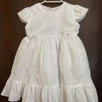 Vestido branco (batizado) - 6 a 9 meses - Piu Ducci