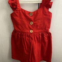 Vestido infantil vermelho - 1 ano - Sem marca