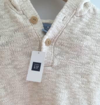 Blusa de lã Gap, tamanho 3. - 3 anos - Baby Gap