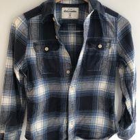 Camisa flanelada Abercrombie tamanho 8-10anos