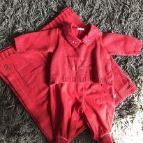 Saída maternidade Menino vermelho carrinho - Recém Nascido - Beth Bebê