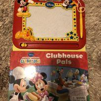 Livro com lousa mágica mickey clubhouse em inglês -  - Disney