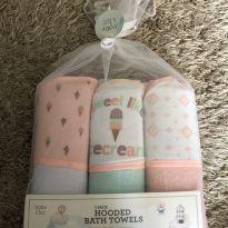 Kit com 3 toalhas de banho bebê  importado eua -  - baby kiss