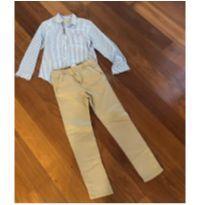 Calça sarja + camisa - 12 anos - Zara Boys