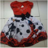 Vestido Ladybug - 12 anos - Não informada