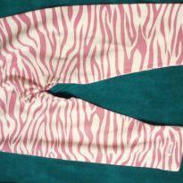 Calça leging onça rosa - 2 anos - Não informada