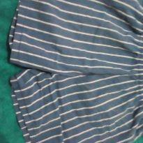 Shorts pijama listrado - 8 anos - Não informada
