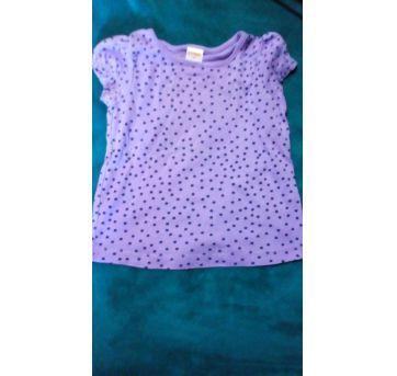Camiseta bolinha roxa - 2 anos - Gymboree