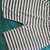 Shorts pijama listrado azul e preto - 8 anos - Não informada