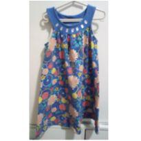 Vestido azul florido - 8 anos - Angerô
