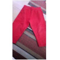 Calça de moleton vermelha - 3 anos - Não informada