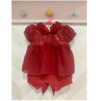 Macaquinho Vermelho Fashion Baby - 0 a 3 meses - Kidstok