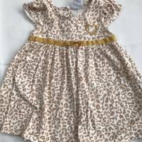 Vestido de oncinha - 12 a 18 meses - Tip Top