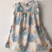 Vestido com flores azul - 3 anos - Kiki Xodó