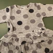 Vestido de bolinha - 3 a 6 meses - Tip Top