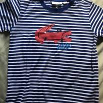 Camiseta azul - 5 anos - Lacoste