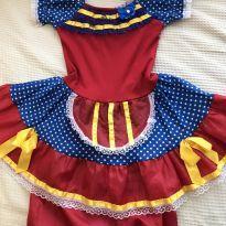 Vestido vermelho de festa junina - 3 anos - Tango Fashion
