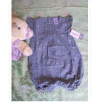 macacão jeans carter`s - 6 meses - Carter`s