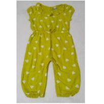 Macacão em viscose amarelo Baby Gap - 12 a 18 meses - Baby Gap