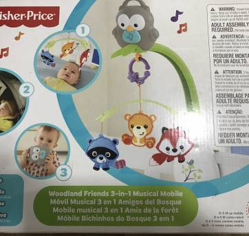 Móbile musical Fischer Price - Sem faixa etaria - Fisher Price