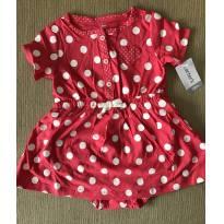 Vestido vermelho de poa Carter`s - 12 a 18 meses - Carter`s