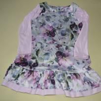Vestido de cetim estampado - 6 anos - Boca Grande
