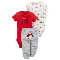 Trio carters pinguim - 6 meses - Carter`s