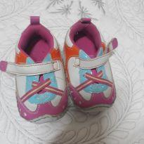 Tenis com velcro para meninas nas cores branca, rosa e laranja - 18 - RISING STAR - Importado