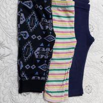 Kit com 3 calças Legs com estampas diversas - 6 meses - Carter`s e Circo