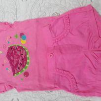 Conjuntinho pink shortinho com babadinhos - 6 a 9 meses - Garanimals