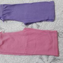Calça em algodão rosa e roxa - 3 a 6 meses - Faded Glory (EUA)