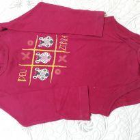 Body manga longa de algodão - 12 a 18 meses - Hering Kids