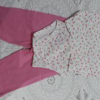 Body de estampa com manga longa (teddy Boom) e calça Faded Glory rosa em algodão - 3 a 6 meses - Faded Glory (EUA) e Teddy Boom