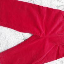 Calça veludo cotele forrada por dentro na cor pink - 9 meses - Conexão
