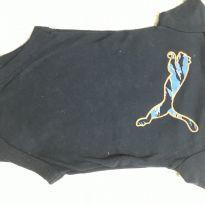 Body manga curta azul marinho PUMA - 0 a 3 meses - Puma