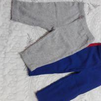 Kit com 2 calças uma azul e outra Carter´s em cinza - 0 a 3 meses - Carter`s