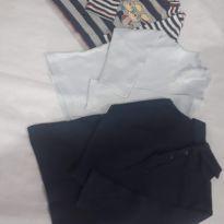 Camisetinhas de manga longa (2 gola alta outro de ratinho) - 9 a 12 meses - Fagottino Mini (Itália) e Outros