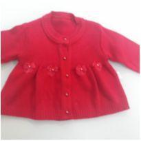Casaquinho vermelho bebe lã - 3 a 6 meses - Outros