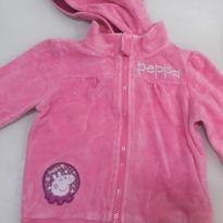 Blusa Peppa Pig rosa com capuz embutido (retiravel) - 3 anos - Renner