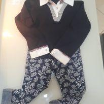Conjuntinho calça leggi e camisa semi social - 6 anos - Outros