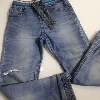 Calça moletom jeans com elastico na cintura M&S - 7 anos - Outras