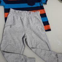 Conjuntinho camiseta e calça com joelheira - 18 a 24 meses - Okie Dokie