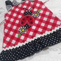 Vestido de joaninha aplicada - 1 ano - Sweet Heart Rose