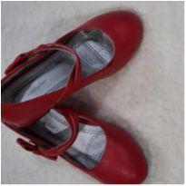 Sapato de salto alto vermelho com velcro - 30 - Outras