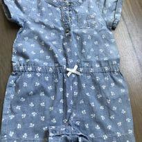 Macaquinho jeans - 9 meses - Carter`s
