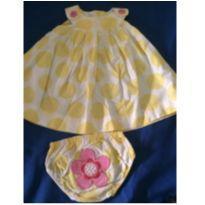 Vestidinho lindo bolas amarelas - 3 meses - Carter`s
