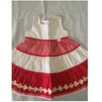 Vestido vermelho e branco - 2 anos - Blueberi Boulevard - USA
