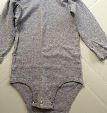 Body manga cinza - 18 meses - Carter`s