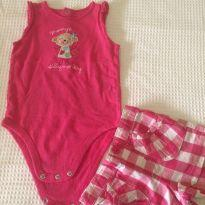 Conjunto body e short - 1 ano - Jumping Beans