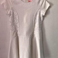 Vestido de algodão com faixa lateral bordada - 10 anos - Fuzarka